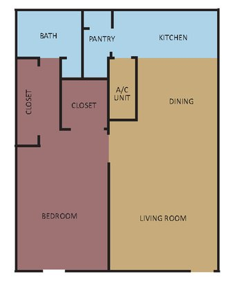 1 Bedroom 1 Bathroom Apartment for rent at University Crossing in Memphis, TN
