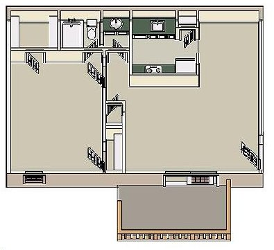 1 Bedroom 1 Bathroom Apartment for rent at Woodlake in Memphis, TN