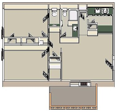 2 Bedrooms 2 Bathrooms Apartment for rent at Woodlake in Memphis, TN