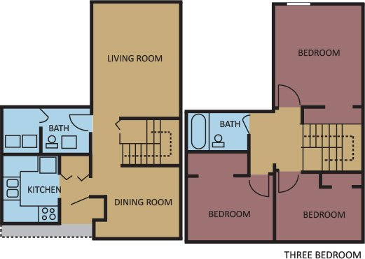 3 Bedrooms 1 Bathroom Apartment for rent at The Edison Apartments in Memphis, TN