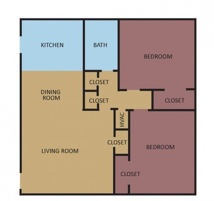 2 Bedrooms 1 Bathroom Apartment for rent at Overton Place in Memphis, TN