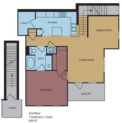 1 Bedroom 1 Bathroom Apartment for rent at Westbury in Memphis, TN