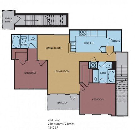 2 Bedrooms 2 Bathrooms Apartment for rent at Westbury in Memphis, TN