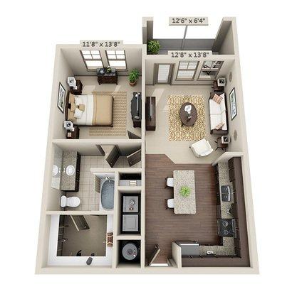 1 Bedroom 1 Bathroom Apartment for rent at Miller Creek At Germantown in Memphis, TN
