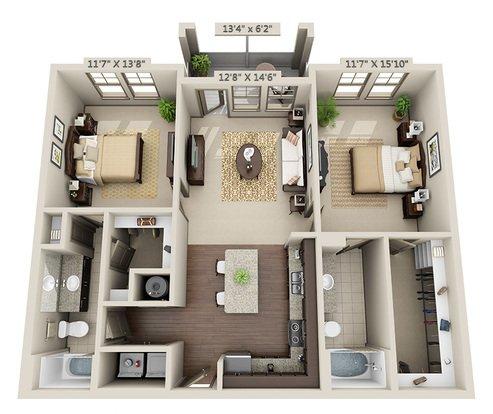 2 Bedrooms 2 Bathrooms Apartment for rent at Miller Creek At Germantown in Memphis, TN