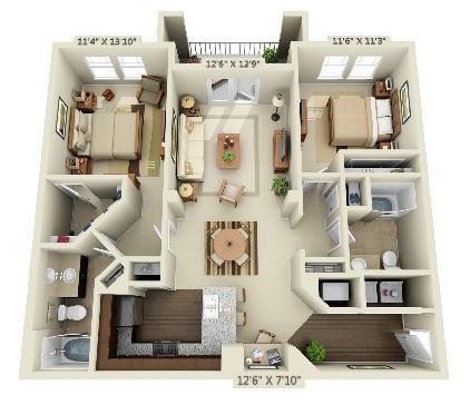2 Bedrooms 2 Bathrooms Apartment for rent at Creekstone At Rtp in Durham, NC