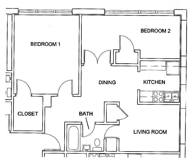2 Bedrooms 2 Bathrooms Apartment for rent at Skyline West in Champaign, IL