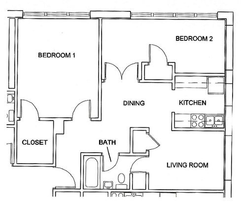 1 Bedroom 1 Bathroom Apartment for rent at Skyline West in Champaign, IL