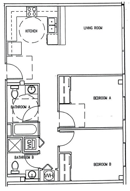 2 Bedrooms 2 Bathrooms Apartment for rent at Skyline Tower in Champaign, IL