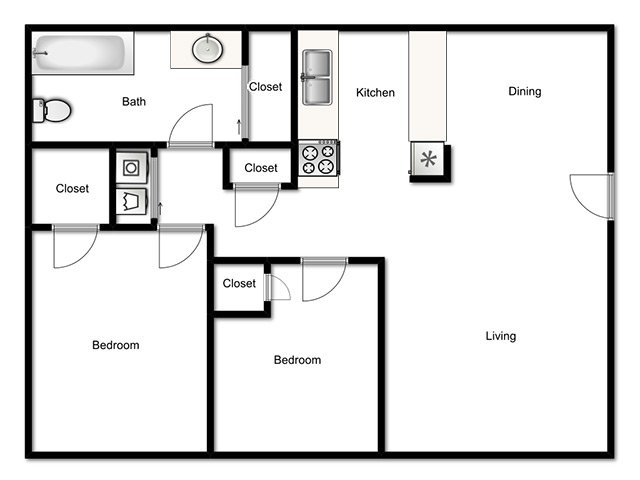 2 Bedrooms 1 Bathroom Apartment for rent at Holladay On Ninth in Salt Lake City, UT
