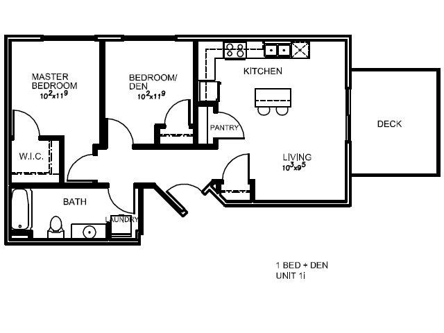 2 Bedrooms 1 Bathroom Apartment for rent at Lotus in Salt Lake City, UT