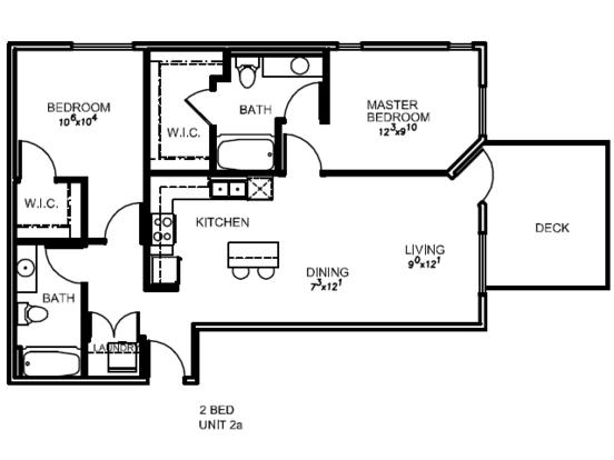 2 Bedrooms 2 Bathrooms Apartment for rent at Lotus in Salt Lake City, UT
