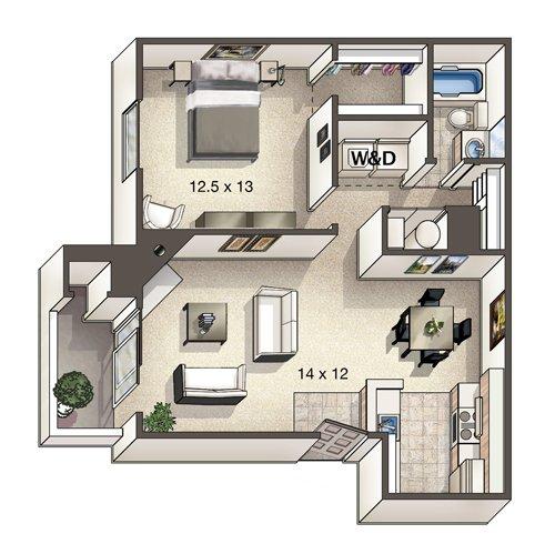 1 Bedroom 1 Bathroom Apartment for rent at Alton Green in Denver, CO