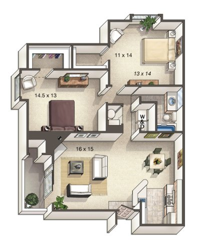 2 Bedrooms 1 Bathroom Apartment for rent at Alton Green in Denver, CO