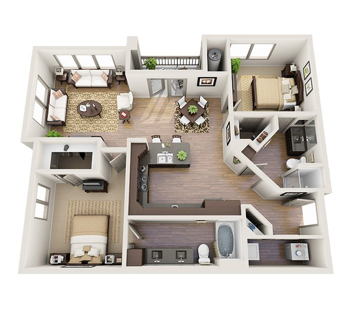 2 Bedrooms 2 Bathrooms Apartment for rent at M2 Apartments in Denver, CO