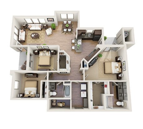 3 Bedrooms 2 Bathrooms Apartment for rent at M2 Apartments in Denver, CO