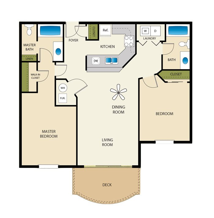 2 Bedrooms 2 Bathrooms Apartment for rent at Palladio in Salt Lake City, UT