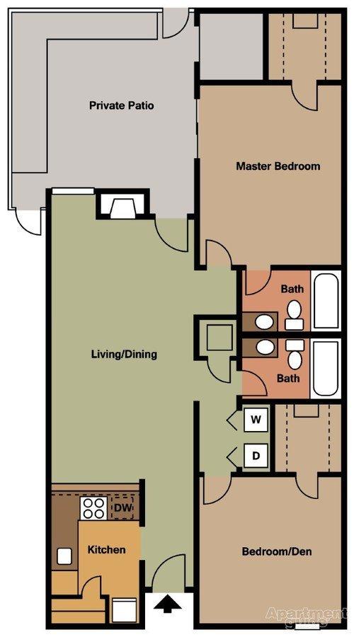 2 Bedrooms 2 Bathrooms Apartment for rent at Cedar Ridge in Cordova, TN