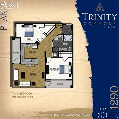2 Bedrooms 2 Bathrooms Apartment for rent at Trinity Commons At Erwin in Durham, NC