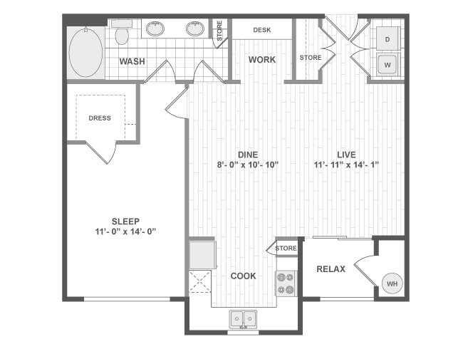 1 Bedroom 1 Bathroom Apartment for rent at Amli Ridgegate Apartments in Lone Tree, CO