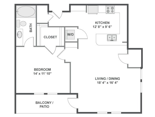 1 Bedroom 1 Bathroom Apartment for rent at Flatirons in Broomfield, CO