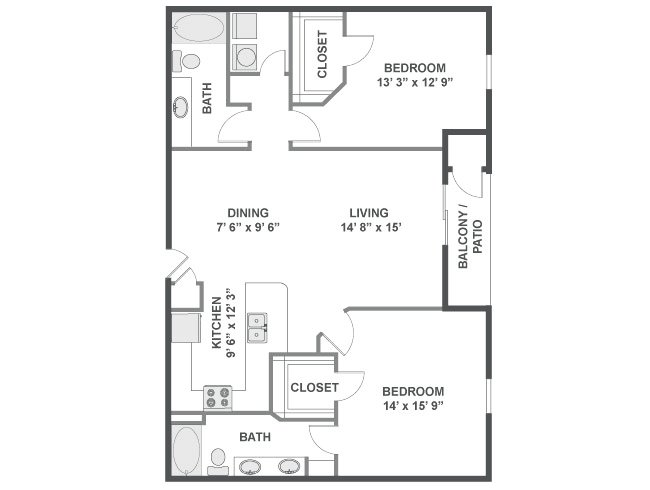 2 Bedrooms 2 Bathrooms Apartment for rent at Flatirons in Broomfield, CO