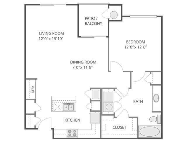 1 Bedroom 1 Bathroom Apartment for rent at Inverness in Englewood, CO
