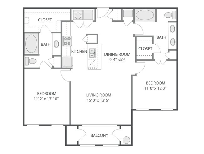 2 Bedrooms 2 Bathrooms Apartment for rent at Inverness in Englewood, CO