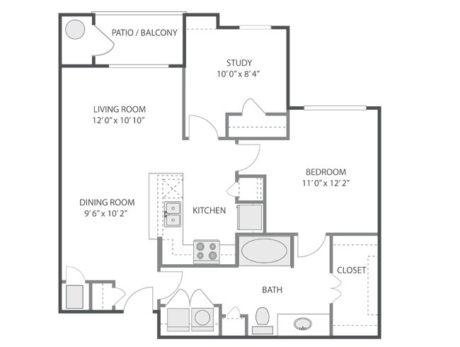 2 Bedrooms 1 Bathroom Apartment for rent at Inverness in Englewood, CO