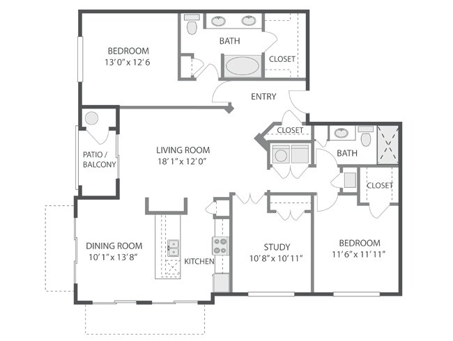 3 Bedrooms 2 Bathrooms Apartment for rent at Inverness in Englewood, CO