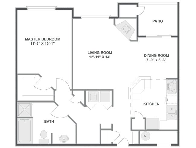 1 Bedroom 1 Bathroom Apartment for rent at Lowry Estates in Denver, CO