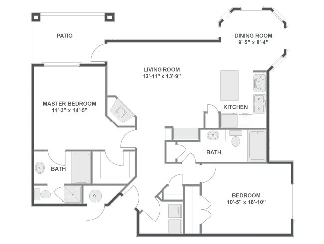 2 Bedrooms 2 Bathrooms Apartment for rent at Lowry Estates in Denver, CO