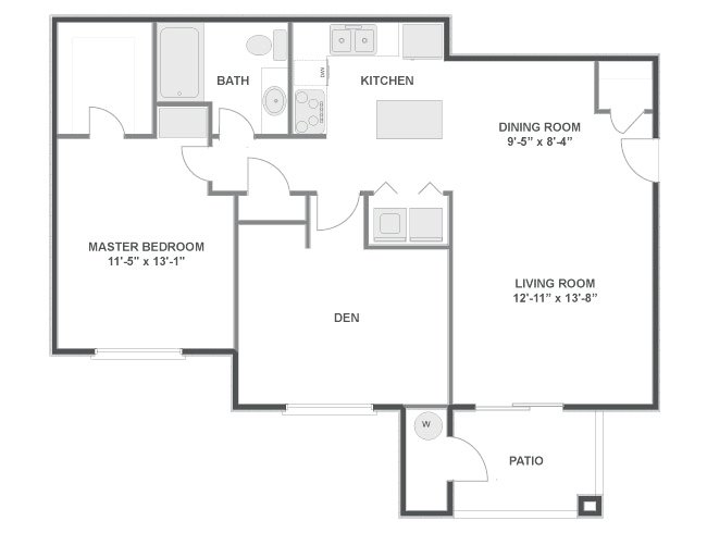 2 Bedrooms 1 Bathroom Apartment for rent at Lowry Estates in Denver, CO