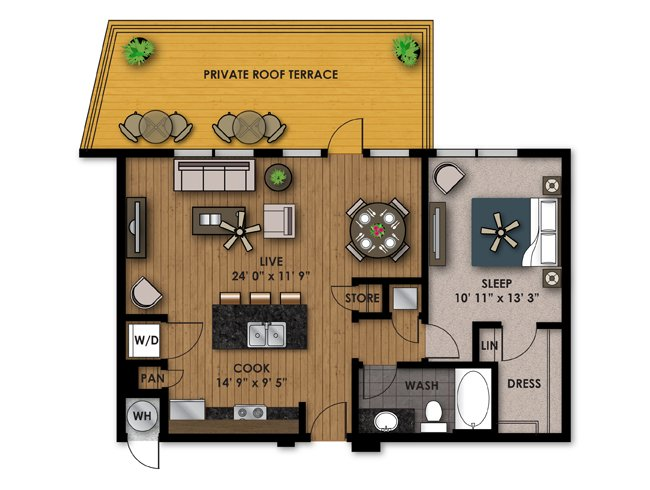 1 Bedroom 1 Bathroom Apartment for rent at Riverfront Park in Denver, CO