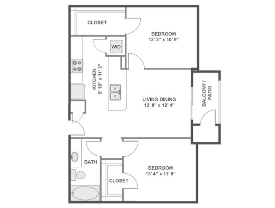 2 Bedrooms 1 Bathroom Apartment for rent at Flatirons in Broomfield, CO