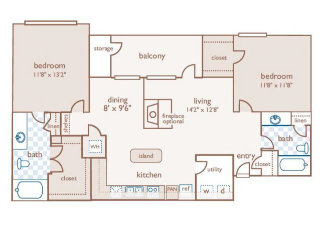 2 Bedrooms 2 Bathrooms Apartment for rent at The Estates At River Pointe in Memphis, TN