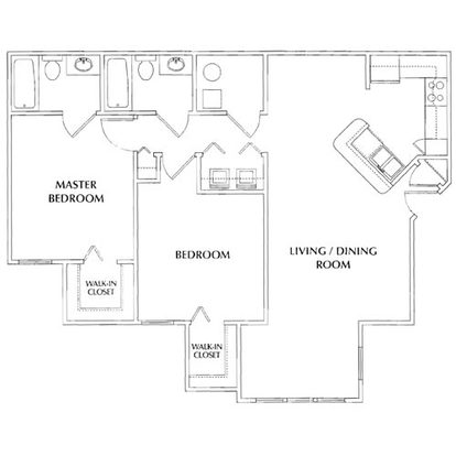 2 Bedrooms 2 Bathrooms Apartment for rent at River Pointe Apartments in Columbus, OH