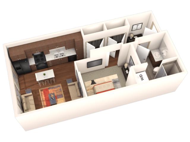 Studio 1 Bathroom Apartment for rent at Veranda Highpointe in Denver, CO