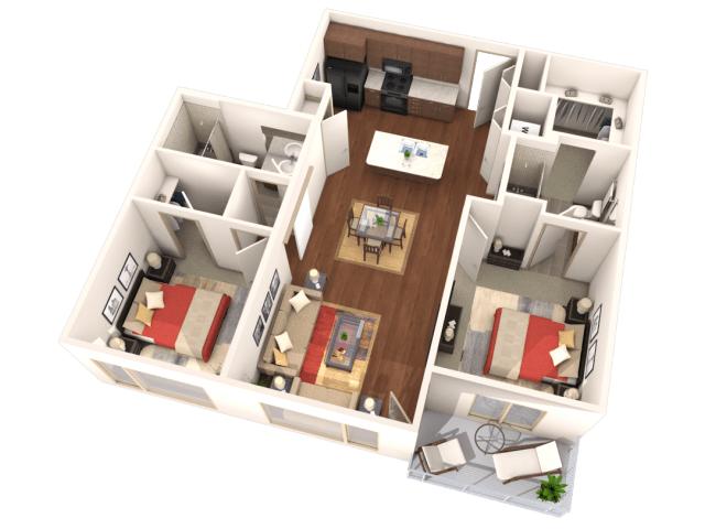 2 Bedrooms 2 Bathrooms Apartment for rent at Veranda Highpointe in Denver, CO