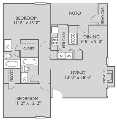 2 Bedrooms 2 Bathrooms Apartment for rent at Lakeside Apartments in Charlotte, NC