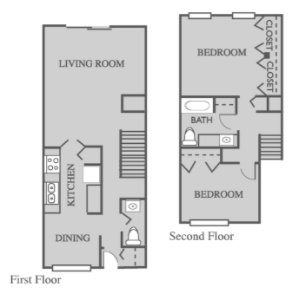 2 Bedrooms 1 Bathroom Apartment for rent at Terrace Garden Townhomes in Omaha, NE
