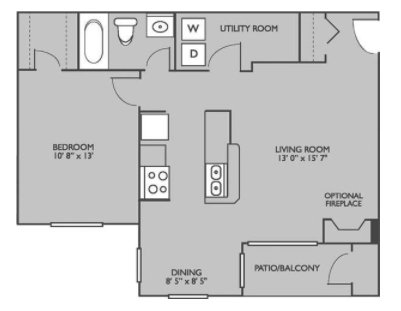 1 Bedroom 1 Bathroom Apartment for rent at Runaway Bay Apartments in Charlotte, NC
