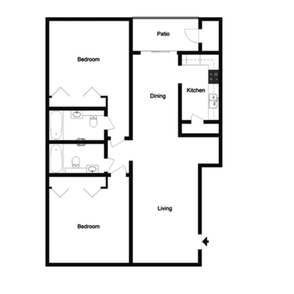 2 Bedrooms 2 Bathrooms Apartment for rent at Beldon Spring Lake in Columbia, SC