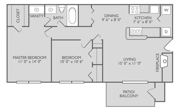 2 Bedrooms 1 Bathroom Apartment for rent at Elements On Park Apartments in Charlotte, NC