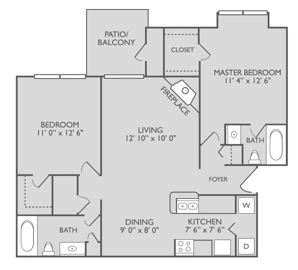 2 Bedrooms 2 Bathrooms Apartment for rent at Elements On Park Apartments in Charlotte, NC