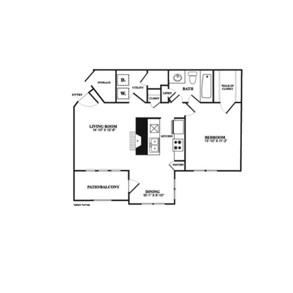 1 Bedroom 1 Bathroom Apartment for rent at Radbourne Lake Apartments in Charlotte, NC