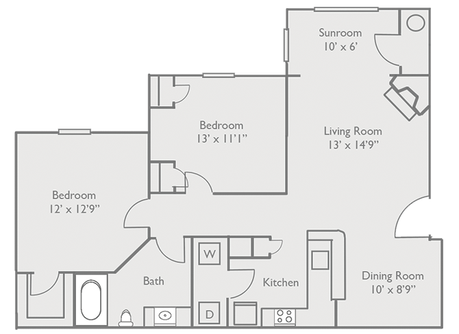 2 Bedrooms 1 Bathroom Apartment for rent at Enclave Hartland Apartments in Lexington, KY