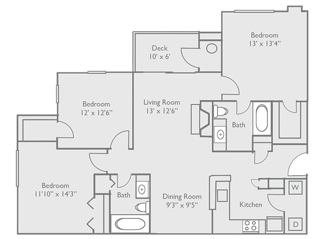 3 Bedrooms 1 Bathroom Apartment for rent at Enclave Hartland Apartments in Lexington, KY