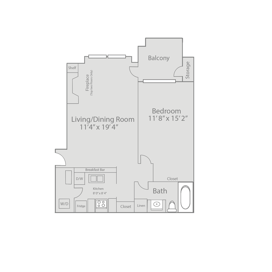 1 Bedroom 1 Bathroom Apartment for rent at Whispering Lake Apartments in Kansas City, MO