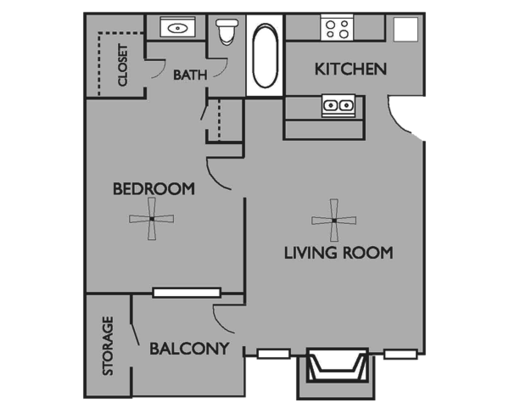 1 Bedroom 1 Bathroom Apartment for rent at Brooksfield Apartments in San Antonio, TX